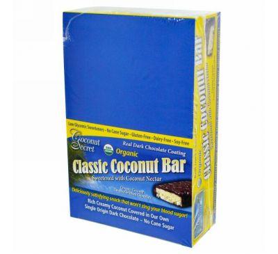 Coconut Secret, Органические классические батончики, кокос, 12 батончиков, 1,75 унции (50 г) каждый