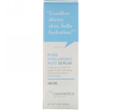 Cosmedica Skincare, Чистая сыворотка с гиалуроновой кислотой, 2 унции (60 мл)