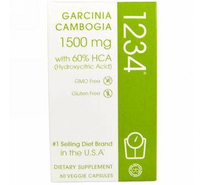 Creative Bioscience, Гарциния камбоджийская 1234, 1500 мг, 60 вегетарианских капсул