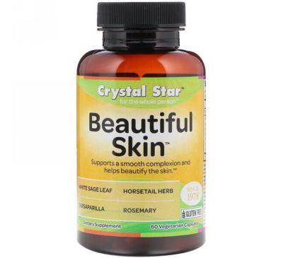 Crystal Star, Beautiful Skin (красивая кожа), 60 вегетарианских капсул