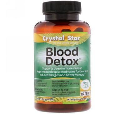 """Crystal Star, """"Детокс крови"""", средство для чистки крови, 90 капсул в растительной оболочке"""