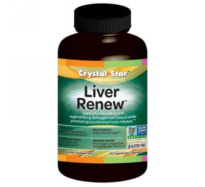 """Crystal Star, """"Обновление печени"""", восстанавливающее средство для печени, 90 капсул в растительной оболочке"""