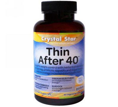 Crystal Star, Thin After 40 (стройность после 40), 60 вегетарианских капсул
