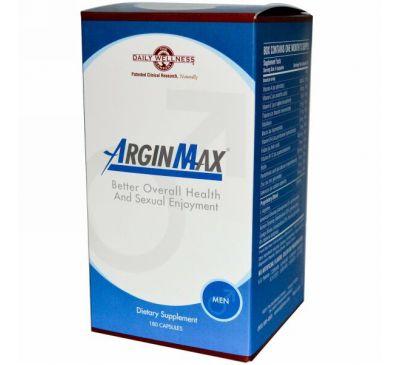 Daily Wellness Company, ArginMax для мужчин, 180 капсул