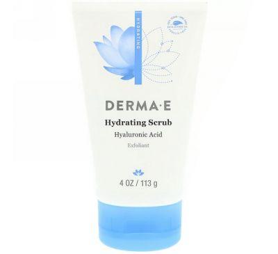Derma E, Увлажняющий скраб с гиалуроновой кислотой, 4 унции (113 г)