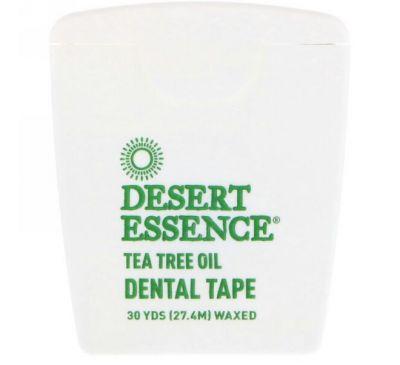 Desert Essence, Зубная лента с маслом чайного дерева, покрытая воском, 30 ярдов (27,4 м)