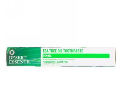 Desert Essence, Зубная паста с маслом чайного дерева и фенхелем, 6,25 унц. (176 г)