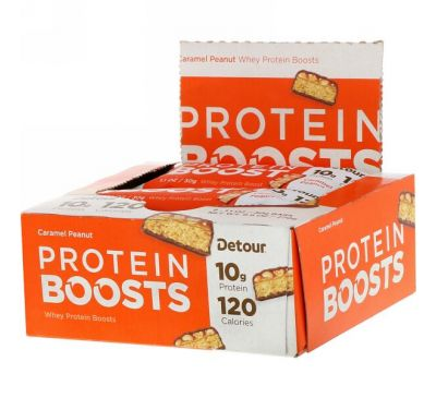 Detour, Protein Boosts Bars, Caramel Peanut, 9 Bars, 1.1 oz (30 g) Each