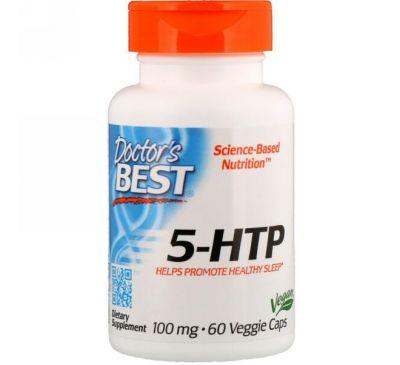 Doctor's Best, 5-гидрокситриптофан Best, 100 мг, 60 растительных капсул