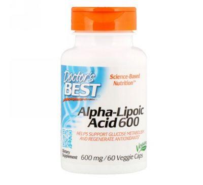 Doctor's Best, Альфа-липоевая кислота Best, 600 мг, 60 растительных капсул