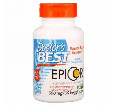 Doctor's Best, Epicor, 500 мг, 60 капсул в растительной оболочке