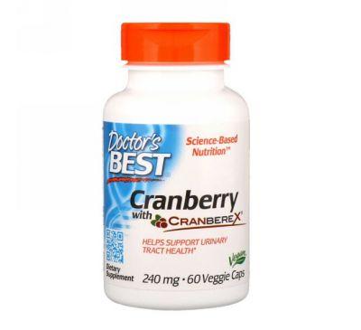 Doctor's Best, Клюква с Cranberex, 240 мг, 60 вегетарианских капсул