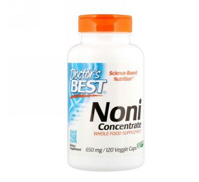 Doctor's Best, Концентрат нони, 650 мг, 120 растительных капсул