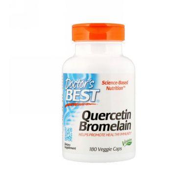 Doctor's Best, Кверцетин с бромелаином, 180 растительных капсул