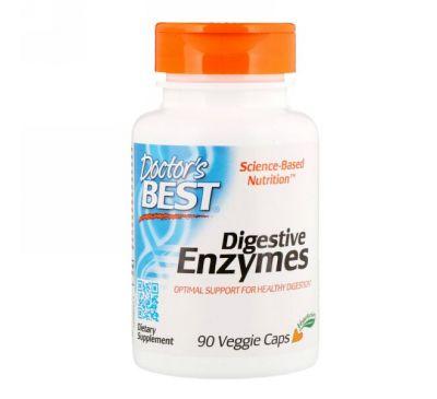 Doctor's Best, Пищеварительные ферменты, 90 растительных капсул