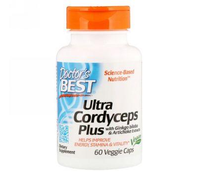 Doctor's Best, Ультра кордицепс плюс, 60 растительных капсул