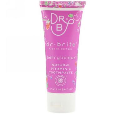 Dr. Brite, Natural Vitamin C Toothpaste, Berrylicious, 2 oz (56.7 g)
