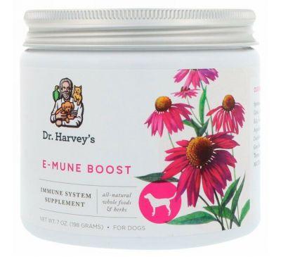 Dr. Harvey's, Пищевая добавка E-Mune Boost, Для собак, 7 унций (198 г)