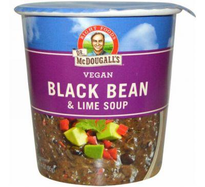 Dr. McDougall's, Суп с черными бобами и лаймом, 3,4 унции (95 г)