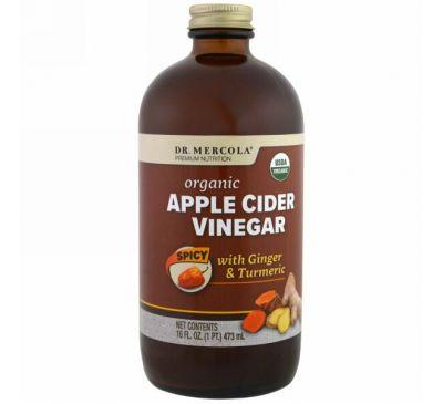 Dr. Mercola, Органический яблочный уксус, пряный, 16 унций (473 мл)