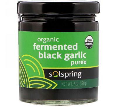 Dr. Mercola, Solspring, органическое ферментированное пюре из черного чеснока, 7 унций (198 г)