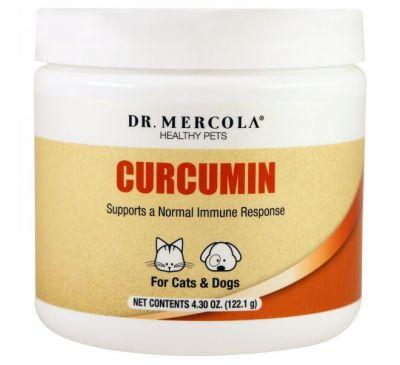 Dr. Mercola, Здоровые питомцы, Куркумин для кошек и собак, 4,30 унц. (122,1 г)