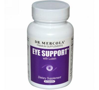 Dr. Mercola, лютеин для поддержки глаз, 30 капсул