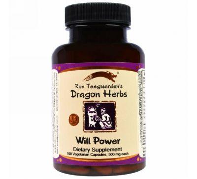 Dragon Herbs, Сила воли 100 овощных капсул