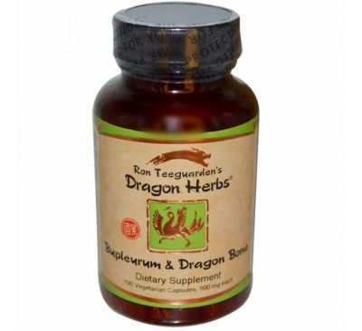 Dragon Herbs, Володушка и кости дракона, 100 растительных капсул