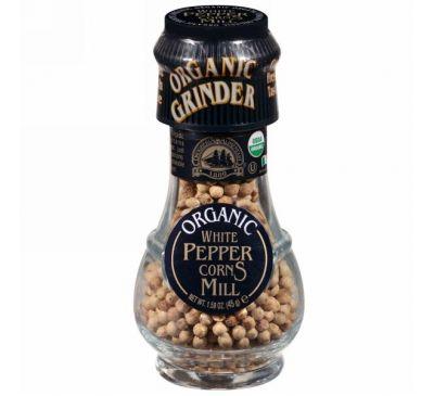 Drogheria & Alimentari, Organic White Peppercorns Mill, 1.58 oz (45 g)