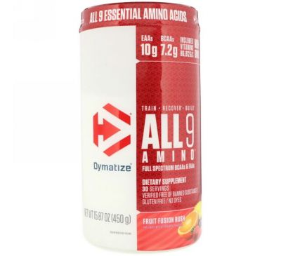 Dymatize Nutrition, All 9 Amino, фруктовый вкус, 15,87 (450 г)