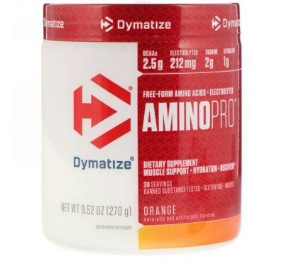 Dymatize Nutrition, AminoPro, апельсин, 9,52 унц. (270 г)