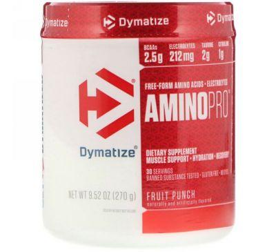 Dymatize Nutrition, AminoPro, фруктовый пунш, 9,52 унц. (270 г)