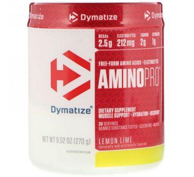 Dymatize Nutrition, AminoPro, лимон-лайм, 9,52 унции (270 г)