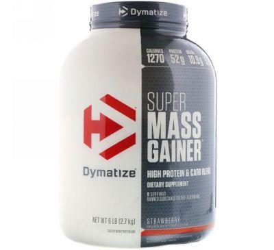 Dymatize Nutrition, Dymatize, Super Mass Gainer, Strawberry, 6 lbs (2.7 KG)