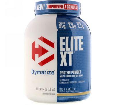 Dymatize Nutrition, Elite XT, белковый порошок со вкусом богатой ванили, 1,8 кг (4 фунта)