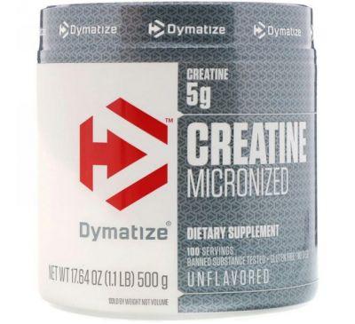 Dymatize Nutrition, Микронизированный креатин, 17,64 унц. (500 г)