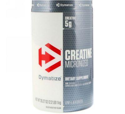 Dymatize Nutrition, Микронизированный креатин, без ароматизаторов, 2,2 фунта (1 кг)