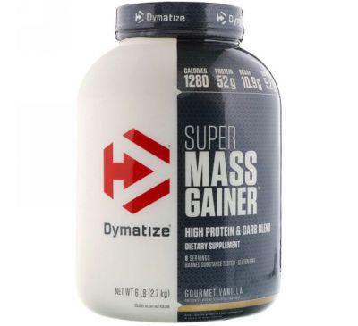 Dymatize Nutrition, Super Mass Gainer, со вкусом ванили, 6 фунтов (2,7 кг)
