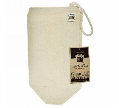 ECOBAGS, Многоразовый брезентовый пакет для ланча, 1 сумка, ширина 7 х высота 10,5