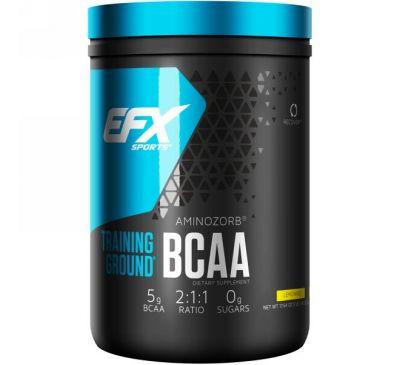 EFX Sports, Training Ground, аминокислоты с разветвленной цепью, лимонад, 17,64 унц. (500 г)