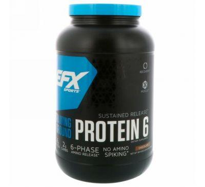 EFX Sports, Training Ground, протеин 6, шоколад, 38,4 унц. (1089 г)