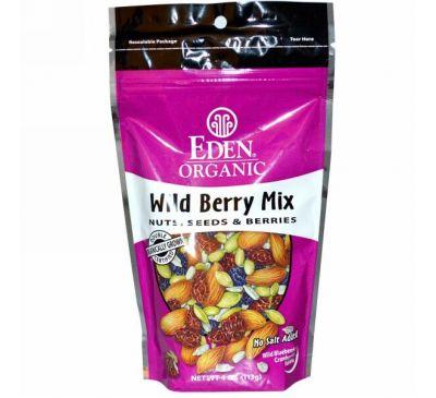 Eden Foods, Органическая серия, смесь лесных ягод, орехи, семечки и ягоды, 113 г