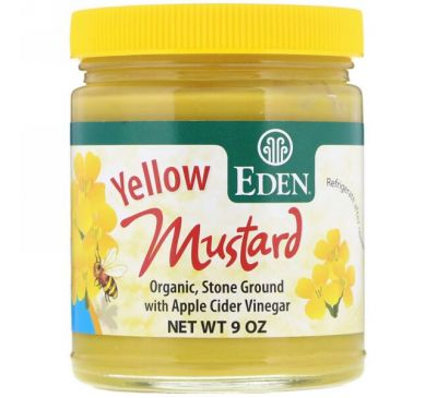 Eden Foods, Yellow Mustard, 9 oz