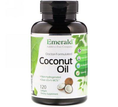 Emerald Laboratories, Кокосовое масло, 120 мягких таблеток