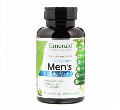 Emerald Laboratories, Мультивитамины с коэнзимами для мужчин, 1 в день, 30 растительных капсул