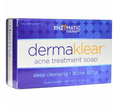 Enzymatic Therapy, DermaKlear, мыло для борьбы с акне, 85 г