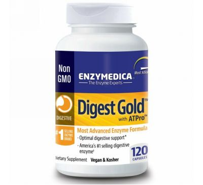 Enzymedica, Digest Gold с ATPro, 120 капсул