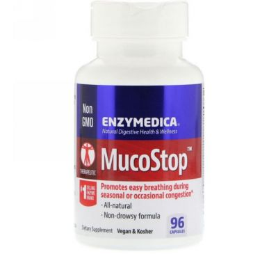 Enzymedica, MucoStop, 96 капсул