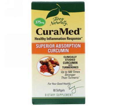 EuroPharma, Terry Naturally, Terry Naturally, CuraMed, 375 мг, 60 желатиновых капсулы
